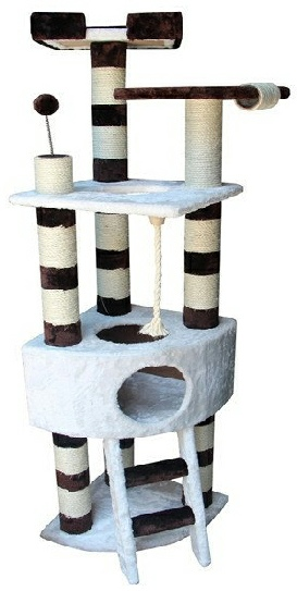 Red Deer Cat Tree Condo Littlewhiskers